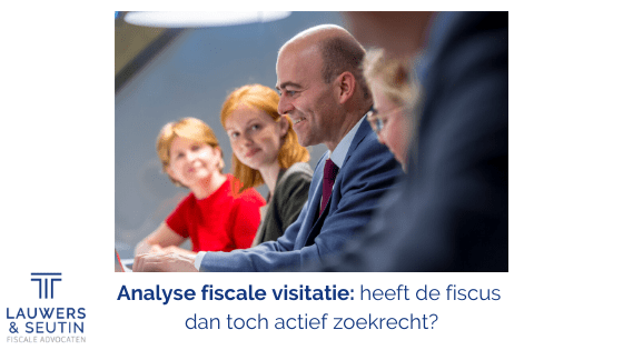 Analyse fiscale visitatie