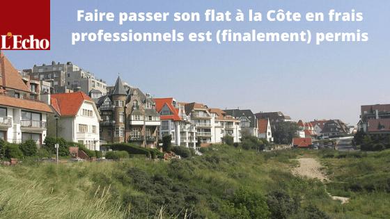 Faire passer son flat à la Côte en frais professionnels