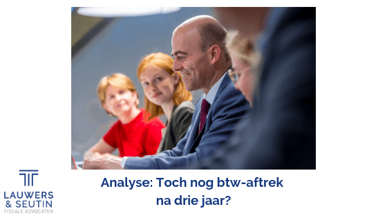Analyse Btw-aftrek na drie jaar